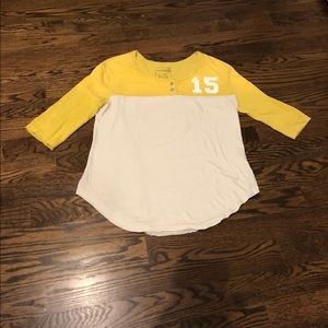 Free people baseball tee Large